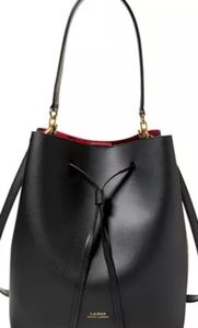 Ralph Lauren Dryden Debby Leather Drawstring Bag